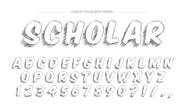 Projekt typografii szkicu stylu