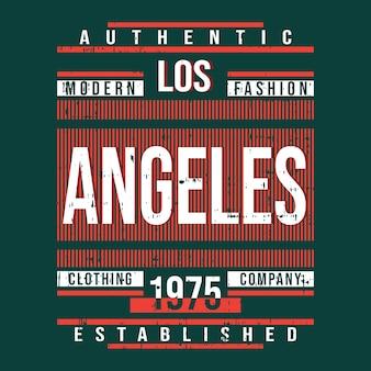 Projekt typografii t shirt los angeles