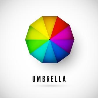 Projekt ubmrella z widokiem kolorów tęczy z góry