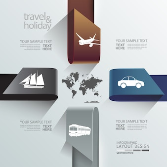 Projekt układu graficznego informacji o podróżnym szablonie