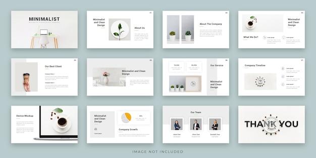 Projekt układu prezentacji minimalis z infografiką