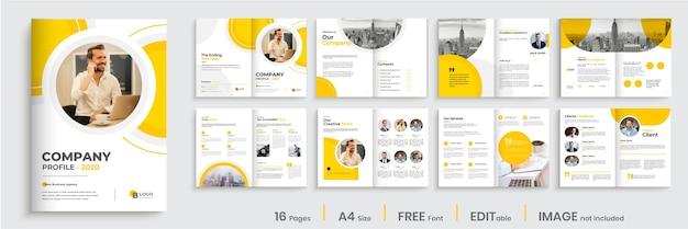 Projekt układu szablonu wielostronicowej broszury korporacyjnej