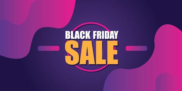 Projekt układu transparentu sprzedaży czarny piątek. szablon promocji i zakupów na czarny piątek.