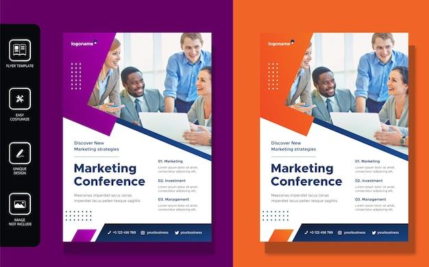 Projekt ulotki biznesowej i szablon strony tytułowej broszury