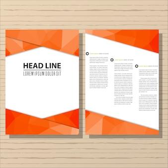 Projekt ulotki broszury szablon układu