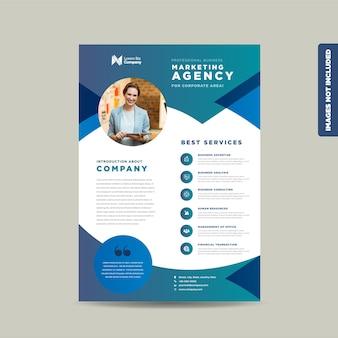 Projekt ulotki firmowej lub projekt ulotki i ulotki lub arkusz marketingowy projekt broszury