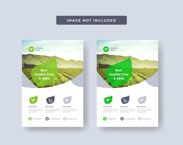 Projekt ulotki firmy rolniczej