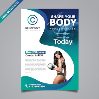 Projekt ulotki fitness