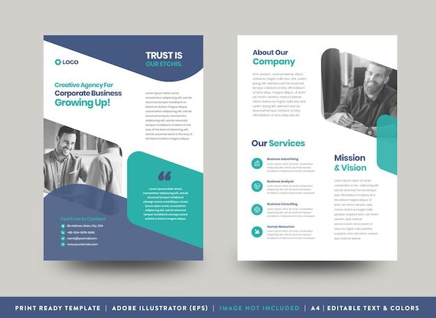 Projekt ulotki korporacyjnej lub materiały informacyjne