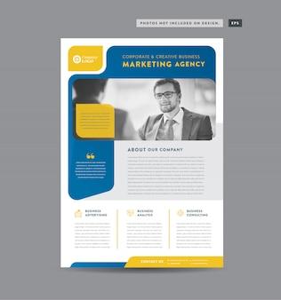 Projekt ulotki korporacyjnej | projekt materiałów informacyjnych i ulotek | projekt arkusza marketingowego
