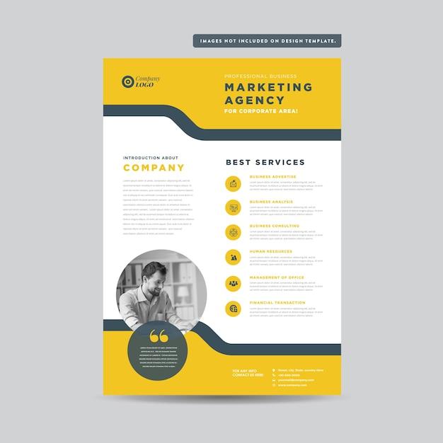 Projekt ulotki korporacyjnej projekt ulotki i ulotki projekt arkusza marketingowego