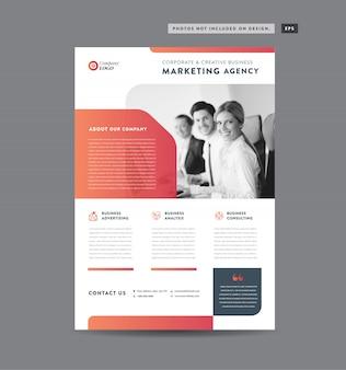 Projekt ulotki korporacyjnej | ulotka i projekt ulotki | projektowanie arkuszy marketingowych