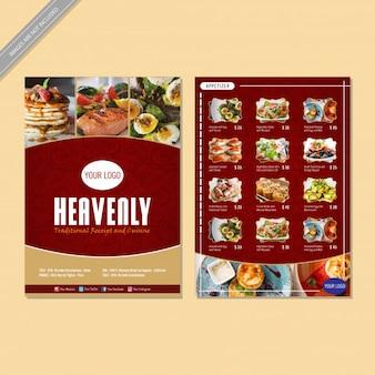 Projekt ulotki menu restauracji