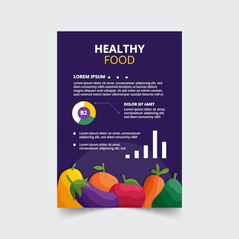 Projekt ulotki zdrowej żywności