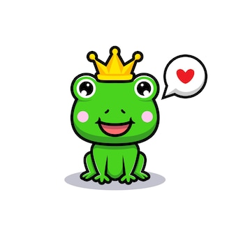 Projekt uroczego króla żaby