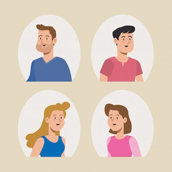 Projekt użytkownika ładne kobiety i mężczyźni