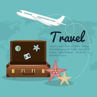 Projekt walizki walizki podróżnej