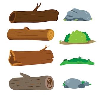 Projekt wektor drewno kolekcji