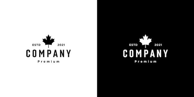 Projekt wektor logo liścia klonu