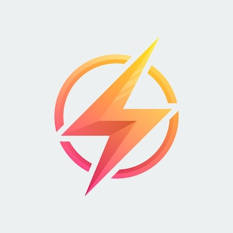 Projekt wektor logo thunder