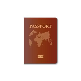 Projekt wektor okładki paszportu, obywatel tożsamości