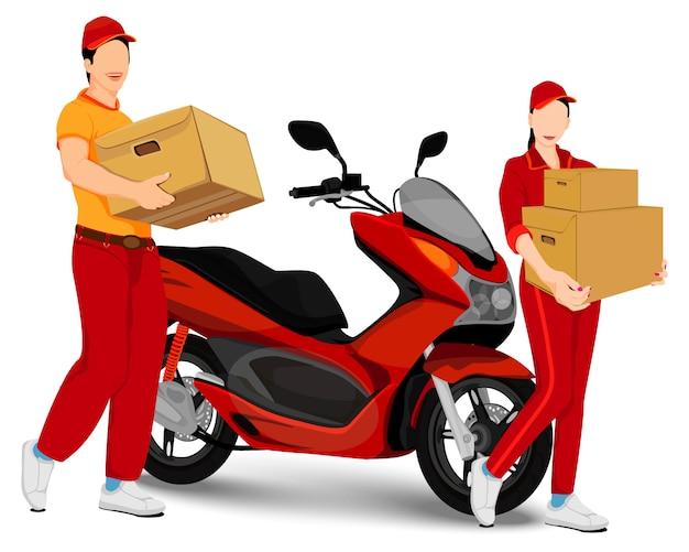 Projekt wektor personelu dostawy