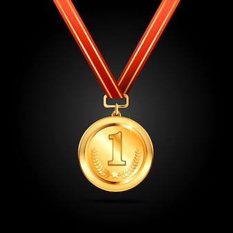 Projekt wektor złoty medal
