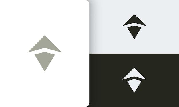 Projekt wektora logo podróży lub przygody z prostym i nowoczesnym kształtem kompasu