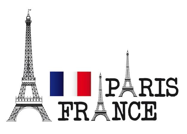 Projekt wieży eiffla, paryż francja