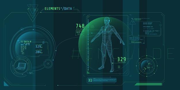 Projekt wirtualnego interfejsu programu ochrony danych.