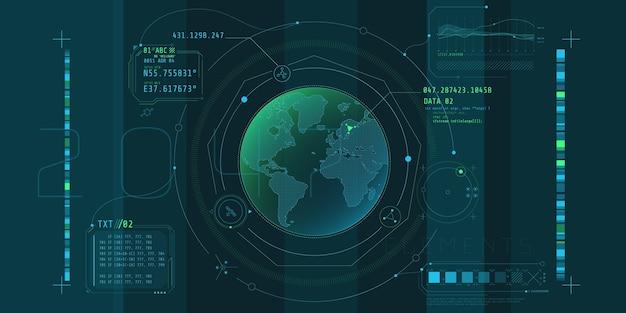Projekt wirtualnego interfejsu programu ochrony planetarnej.