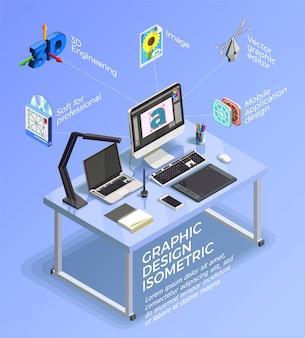Projekt wizualny koncepcja infographic
