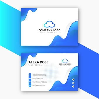 Projekt wizytówki korporacyjnej i wizytówki osobistej o abstrakcyjnym kształcie