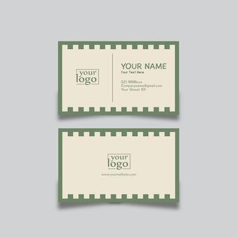 Projekt wizytówki streszczenie zielony
