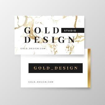 Projekt wizytówki szablon złota