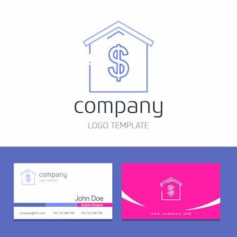 Projekt wizytówki z logo firmy wektor