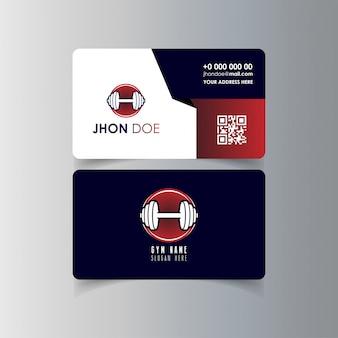 Projekt wizytówki z logo wektor siłowni
