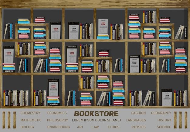 Projekt wnętrz księgarni