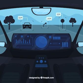 Projekt wnętrza auta autonomicznego