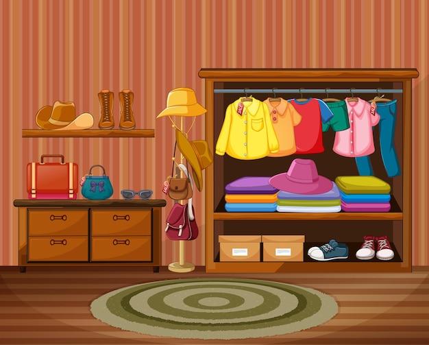 Projekt wnętrza garderoby