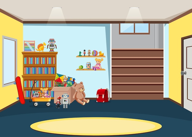 Projekt wnętrza pokoju przedszkolnego