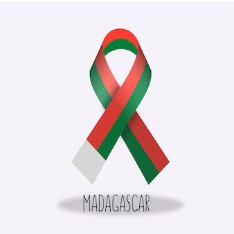 Projekt wstążki banderą madagaskaru