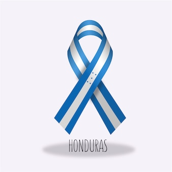 Projekt wstążki z flagą hondura