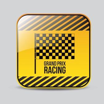 Projekt wyścigu, ilustracji wektorowych.