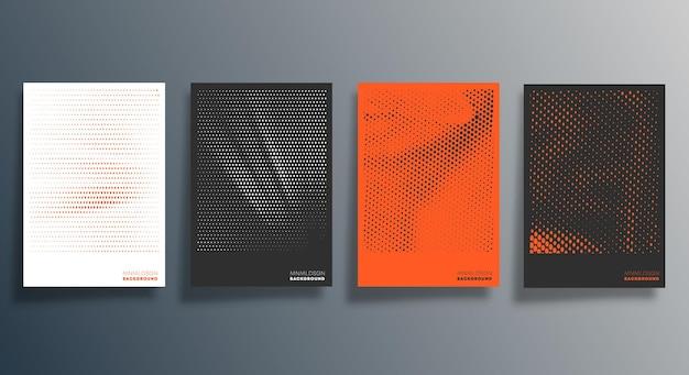 Projekt wzoru półtonów dla ulotki, plakatu, okładki broszury, tła, tapety, typografii lub innych produktów poligraficznych. ilustracja wektorowa.