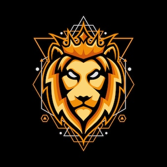 Projekt z królem lwa na geometrii