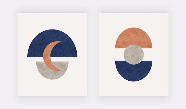 Projekt z połowy wieku o abstrakcyjnych kształtach nowoczesna dekoracja ścienna do domu