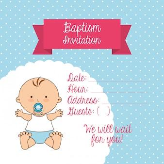 Projekt zaproszenia na chrzest