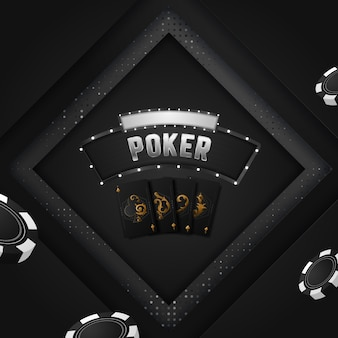 Projekt zaproszenia na turniej pokerowy w kasynie.