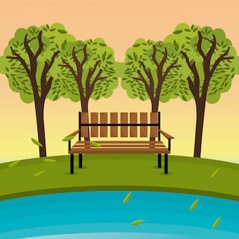 Projekt zielonego parku.
